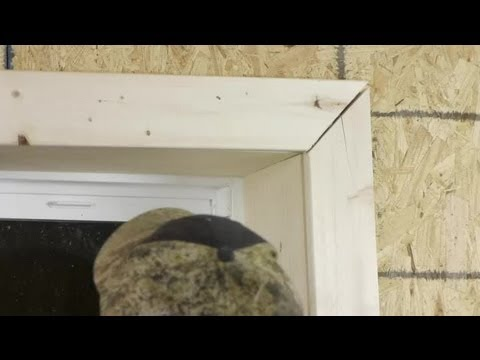 How to Cut & Install Window Trim : Trim Installation & Maintenance