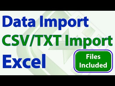 Import Series - Import CSV TXT File into Excel