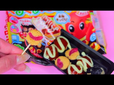 OCTOPUS TENTACLES Kracie Popin Cookin Takoyaki shaped candy kit くるくるたこやき