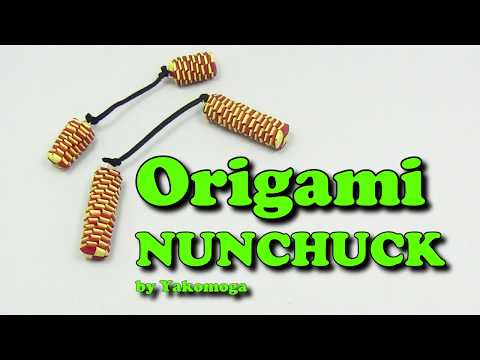 ⛓️Origami paper Nunchucks Dragons tail 🔗( Tail Lizard)💎 IN ENGLISH💎 - Yakomoga easy Origami tutorial