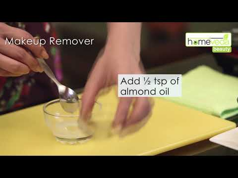 DIY Makeup Remover Recipe Under 30 Seconds| Easy Recipe - Homeveda Remedies