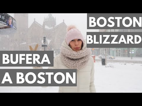 SOTTO LA NEVE A BOSTON!   Vlog (BOSTON BOMB CYCLONE- eng sub)