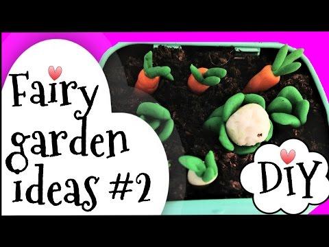 Fairy garden ideas, mini garden veg patch.