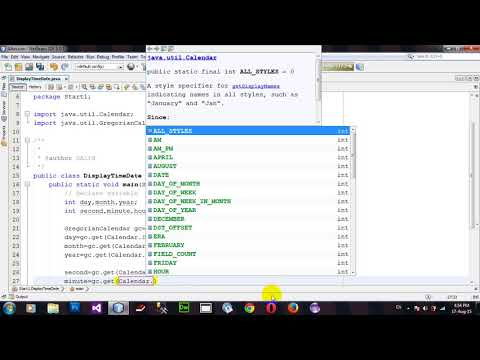 How to Show Current Date and Time in Java Netbeans