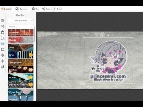 How to use picmonkey.com create facebook banner, etsy shop cover? add your logo?