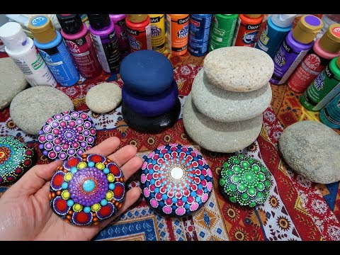 How To Paint Dot Mandalas SEE WHERE I GET MY STONES