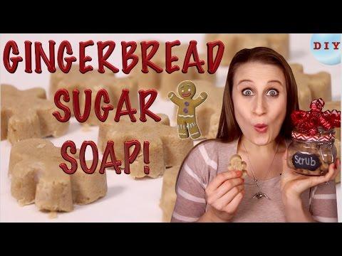 How To Make Gingerbread Sugar Soap - Easy Christmas Gift DIY