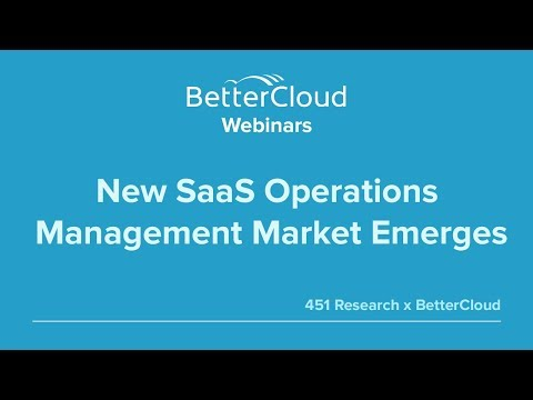 New SaaS Operations Management Market Emerges (451 Research)