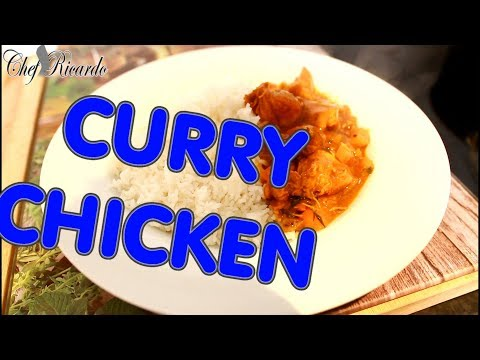 Curry Chicken !!SIMPLE DICE CURRY CHICKEN AT HOME WITH RICE  AMAZING DISH -CURRY CHICKEN !!