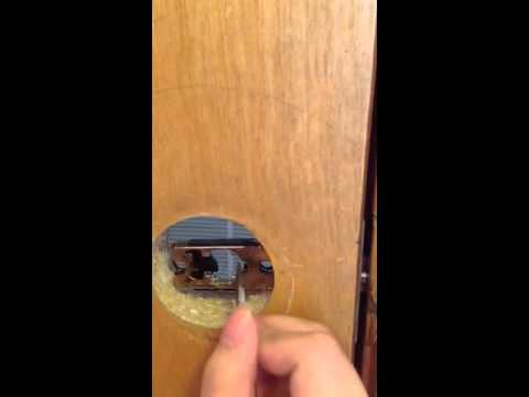 How to open a door without the knob