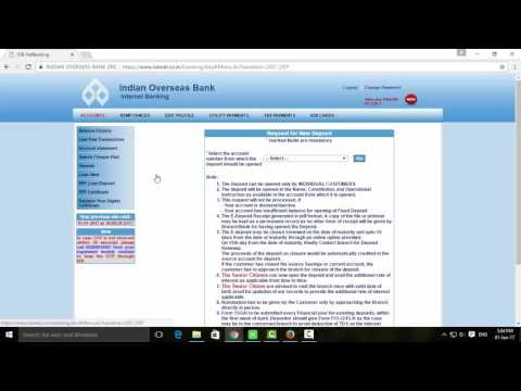 How to Make IOB Fixed Deposit Online   Tamil Banking
