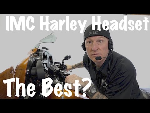 IMC-Best Wired Headset For Harley 7-pin   Boom Box Integration!