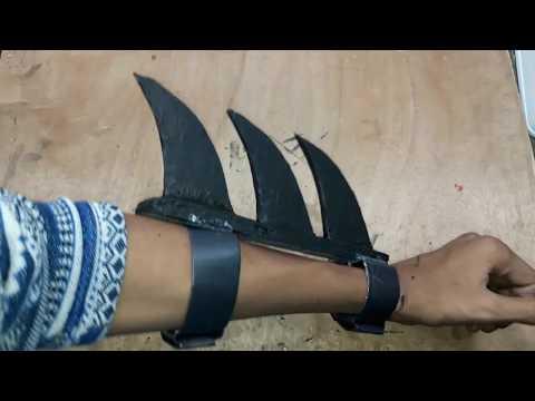 How to Make paper Batman's Gauntlets (Samurai Ninja Inspired)