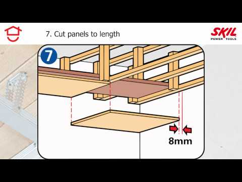 How to fit a false ceiling