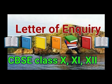 Letter of Enquiry CBSE Class X, XI, XII Writing Skills
