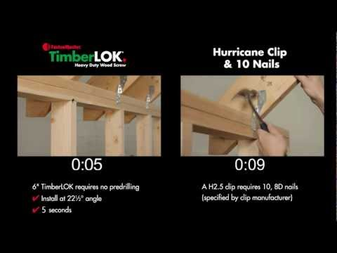 FastenMaster TimberLOK vs. Hurricane Ties - NEW