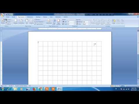 How to create custom grid line in word