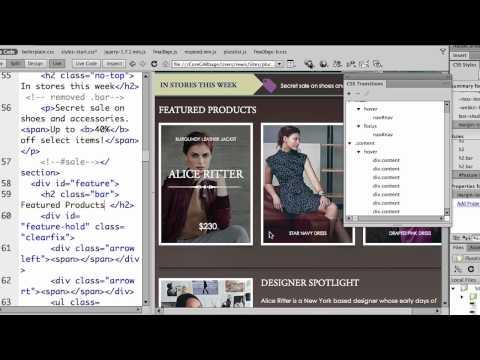 Creating CSS Transitions in Dreamweaver CS6