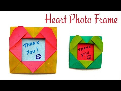 Heart Photo / Picture Frame for Valentine's Day - DIY Origami Tutorial by Paper Folds ❤️