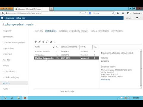 change mailbox database limits in exchange server 2013