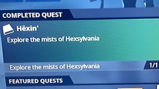 Hexin' Explore The Mists of Hexylvania 2020 Fortnite Save the World