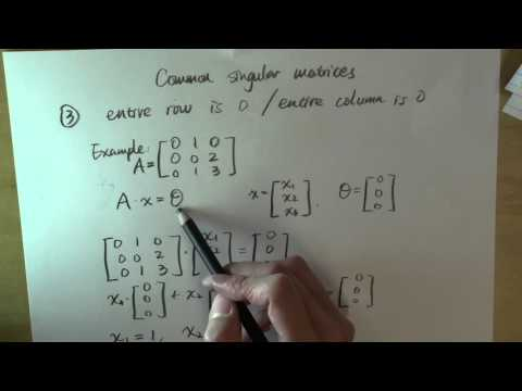 Common singular matrices: part 3