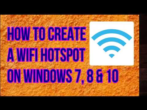 How to Create Wifi Hotspot in Laptop Windows 7/8/10