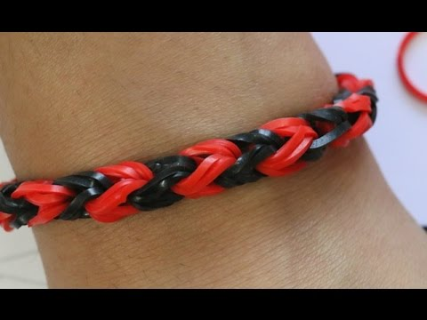 How To Make Rainbow Loom Fishtail Bracelet By 2 Fingers/Easy Way Without Loom/Snake tail