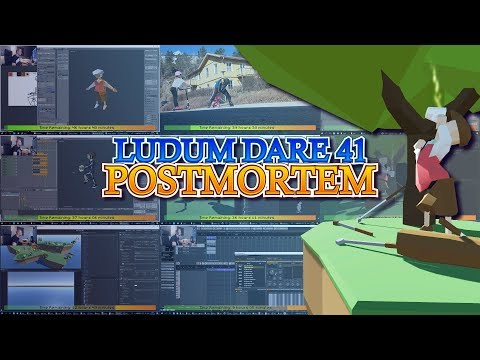 Ludum Dare 41 Postmortem - Narrated Timelapse - Golf N' Grenades