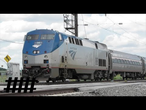 Amtrak Pennsylvanian 43 P42DC 88 at Irishtown Road Removed Railroad Crossing MP 59.2