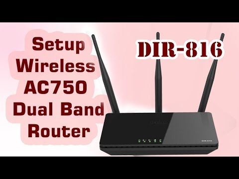 How to Setup DLINK AC750 Dual Band Wireless  Router DIR-819