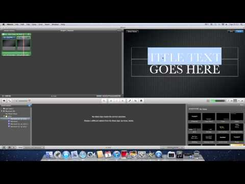 How to make a intro on iMovie By DMaN