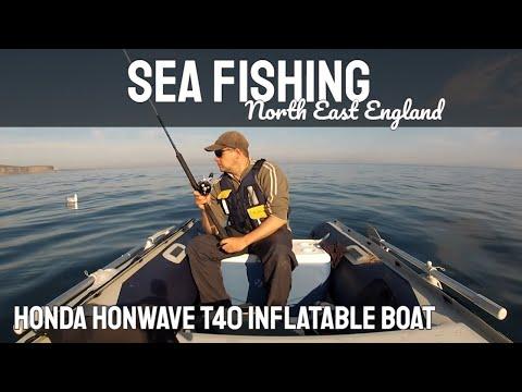 Sea Fishing - UK - in a Honda Honwave T40 Inflatable Boat - GoPro