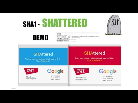 SHAttered - SHA1 busted: demo of the files used for the collision attack