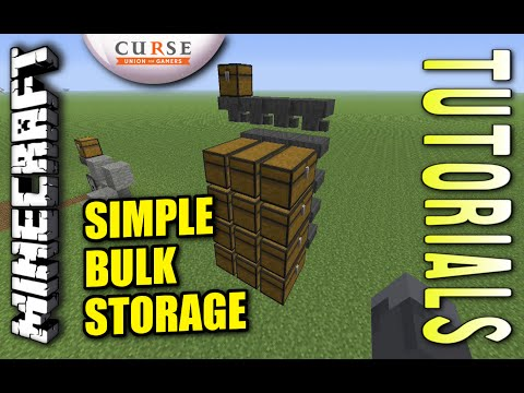 Minecraft PS4 - SIMPLE BULK STORAGE - How To - Tutorial ( PS3 / XBOX )