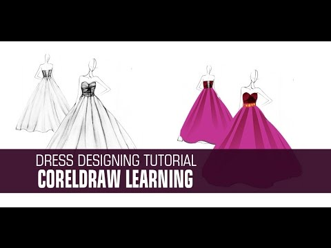 Dress Designing  in coreldraw