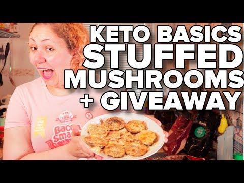 Keto Stuffed Mushrooms + 10K GIVEAWAY || Easy Keto Recipes