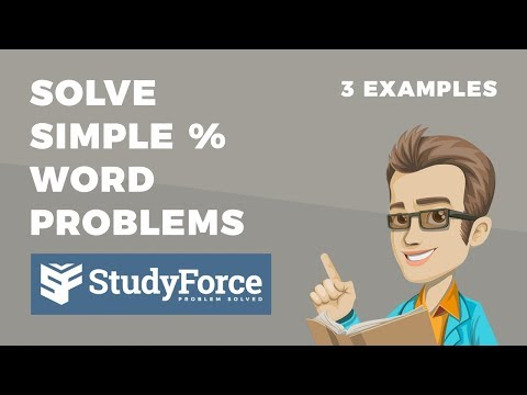 📚 How to solve simple percent word problems (Part 1)