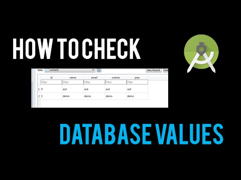 How to check Sqlite Database Values