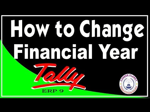How to Change Financial Year in Tally Part-89| Learn Tally