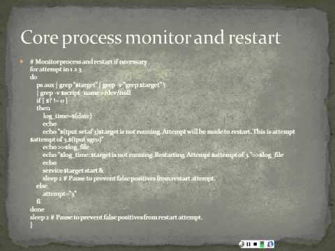Process Monitoring in Unix Shell Scripting Ubuntu