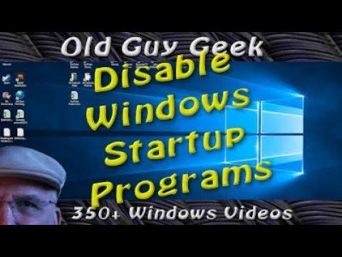 Windows 10 - Disable Unneeded Windows Startup Programs