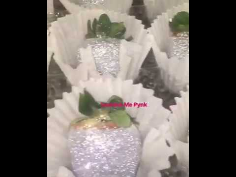 Sprinkle Me Pynk's Custom Treats! Bling Strawberries Custom cupcakes Chanel themed toppers