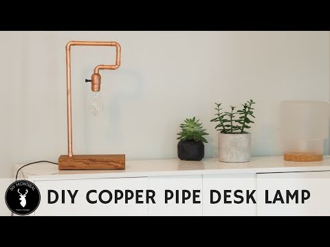 DIY Copper Pipe Table Lamp