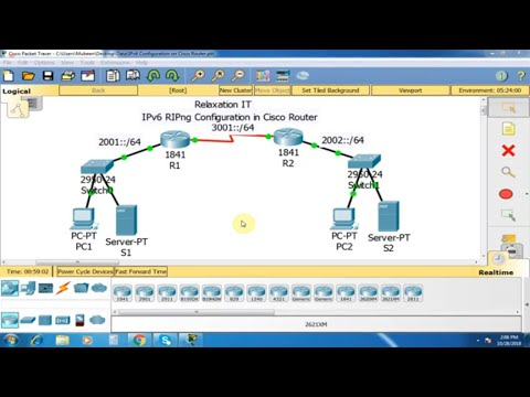 IPv6 RIPng Configuration in Cisco Router - Part 34   CCNA 200-125 (Routing & Switching)