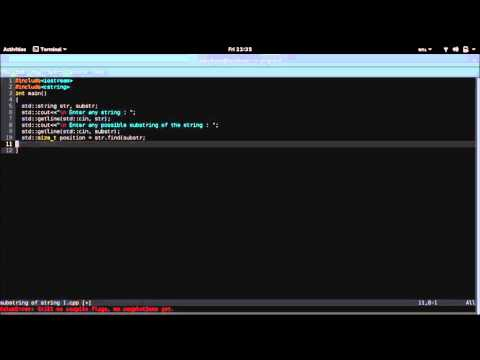 Search for substring in a string (best method) | Pattern matching in C++