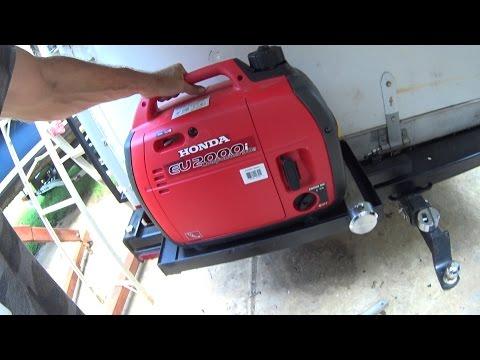 Box Truck Camper 94 - DIY Secure Honda Generator EU2000 Lock