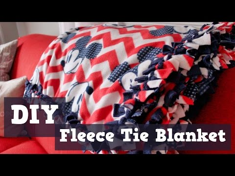 DIY   Fleece Tie Blanket