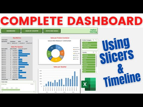 How to Create an Excel Dashboard Using Slicers and Timeline