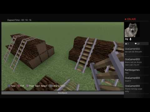Minecraft PS4 live rpg building